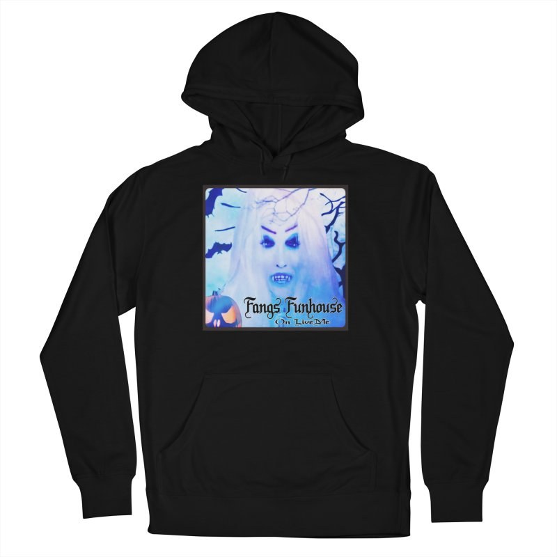 Fangs Funhouse in Men's French Terry Pullover Hoody Black by GETBIT by FanGlorious  Artist Shop