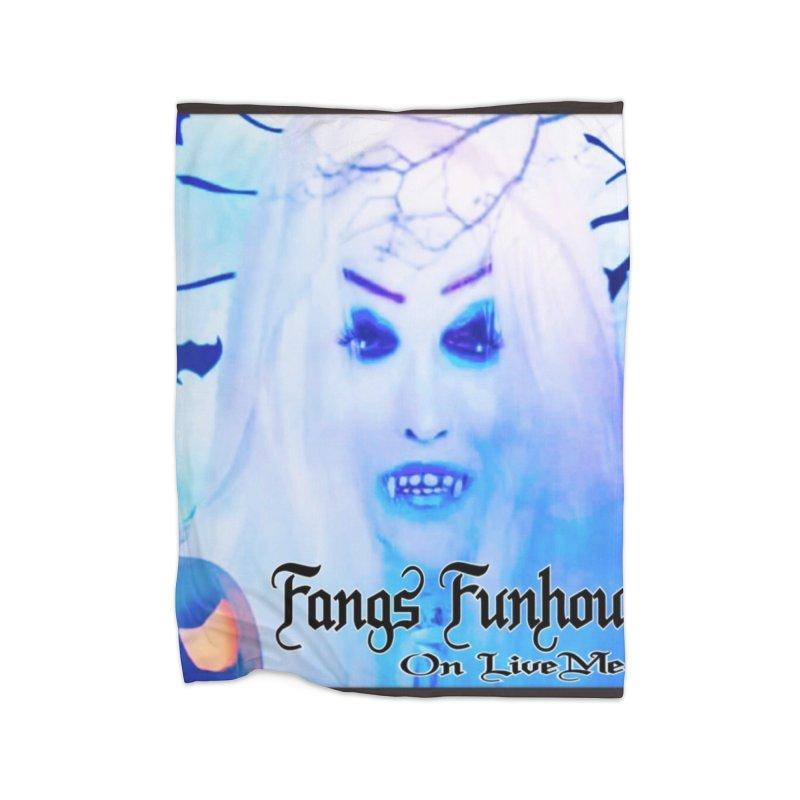 Fangs Funhouse in Fleece Blanket Blanket by GETBIT by FanGlorious  Artist Shop