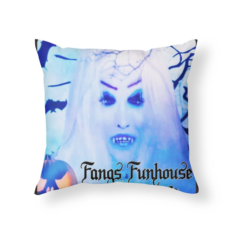 Fangs Funhouse in Throw Pillow by GETBIT by FanGlorious  Artist Shop