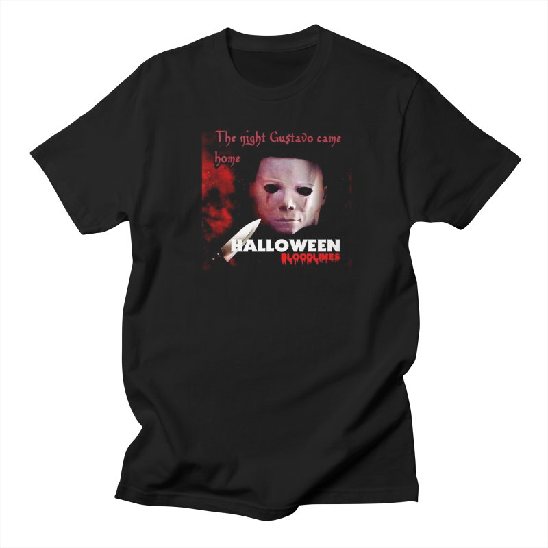 Gustavo as Michael Myers in Men's Regular T-Shirt Black by GETBIT by FanGlorious  Artist Shop