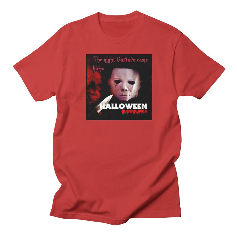 Gustavo as Michael Myers in Men's Regular T-Shirt Red by GETBIT by FanGlorious  Artist Shop