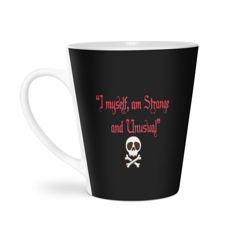 Strange and unusual in Latte Mug by GETBIT by FanGlorious  Artist Shop