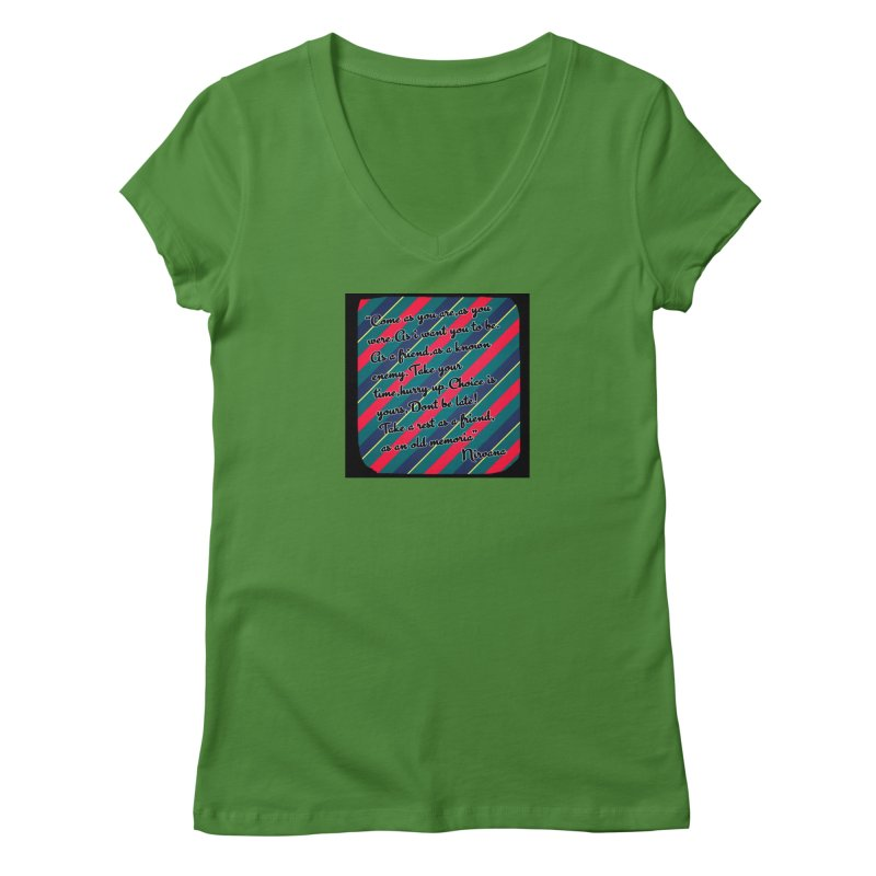 Come as you are in Women's Regular V-Neck Leaf by GETBIT by FanGlorious  Artist Shop