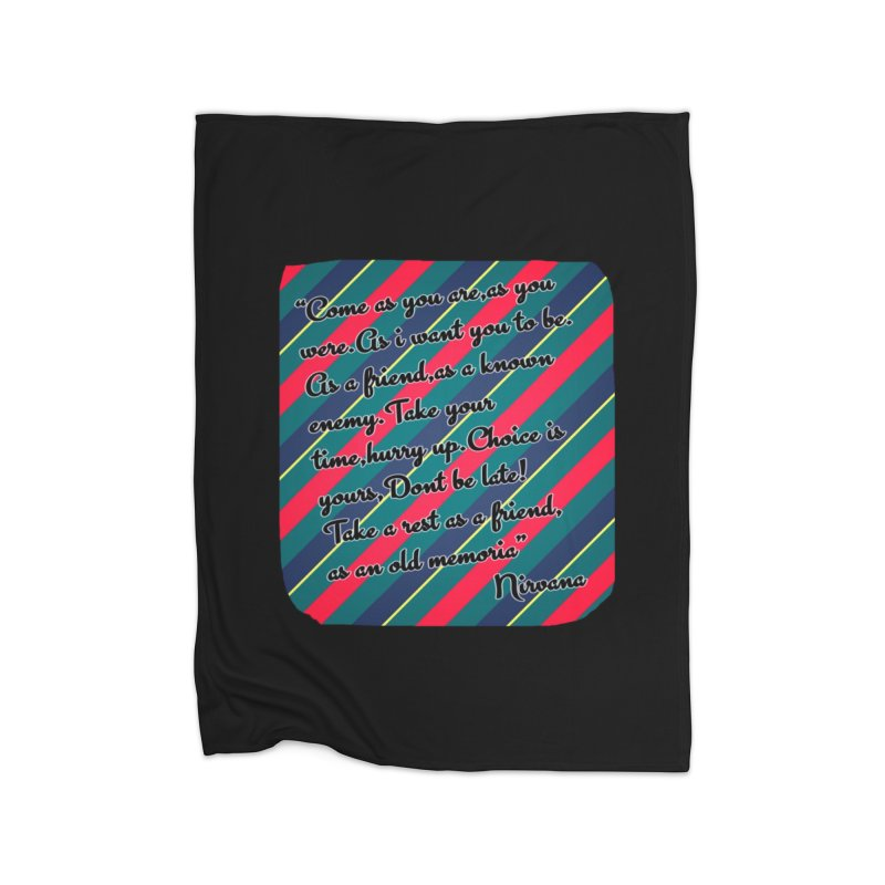 Come as you are in Fleece Blanket Blanket by GETBIT by FanGlorious  Artist Shop