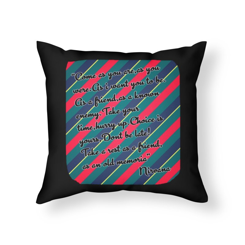 Come as you are in Throw Pillow by GETBIT by FanGlorious  Artist Shop