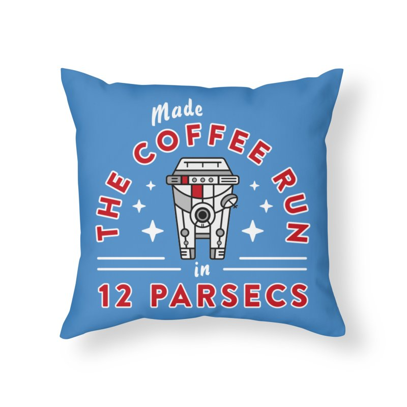 Coffee Run Home Throw Pillow by Greg Gosline Design Co.