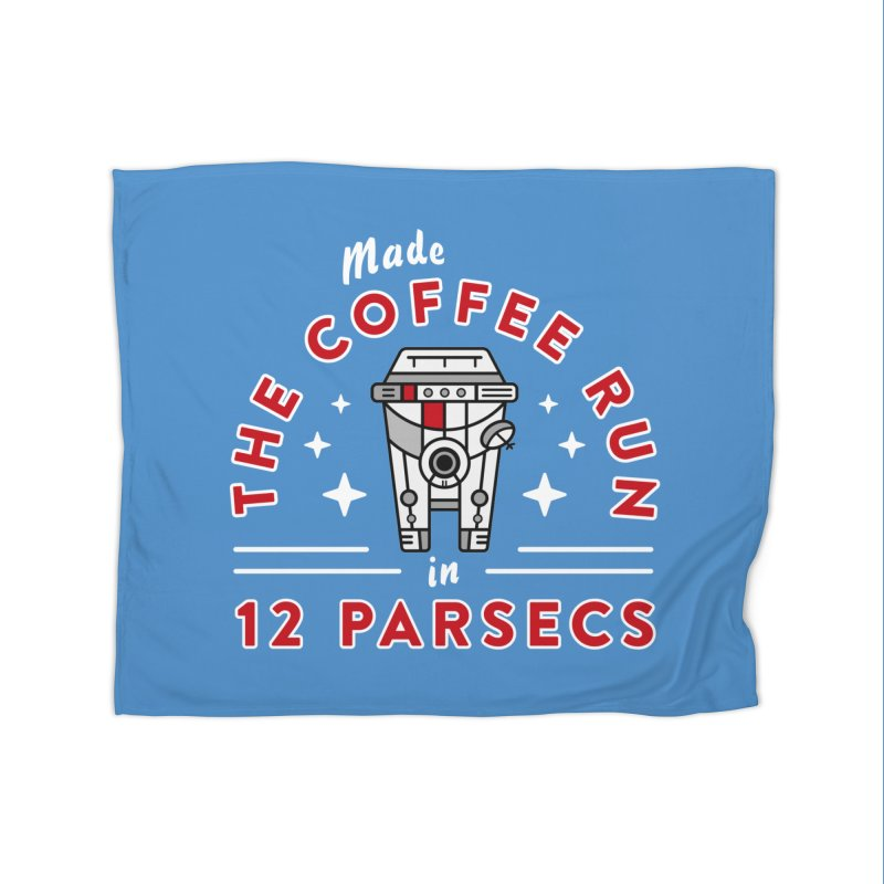 Coffee Run Home Fleece Blanket Blanket by Greg Gosline Design Co.