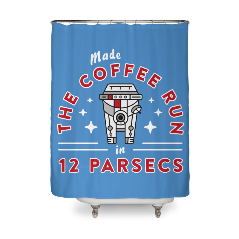 Coffee Run Home Shower Curtain by Greg Gosline Design Co.