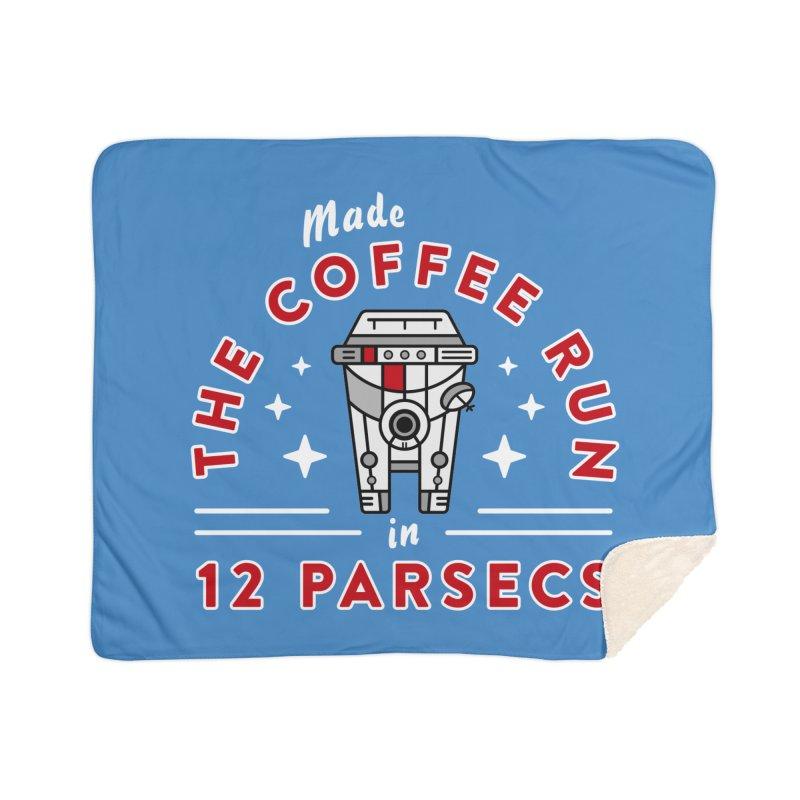 Coffee Run Home Sherpa Blanket Blanket by Greg Gosline Design Co.