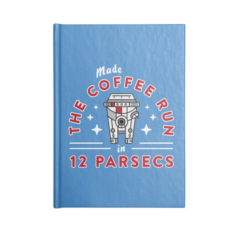 Coffee Run Accessories Lined Journal Notebook by Greg Gosline Design Co.