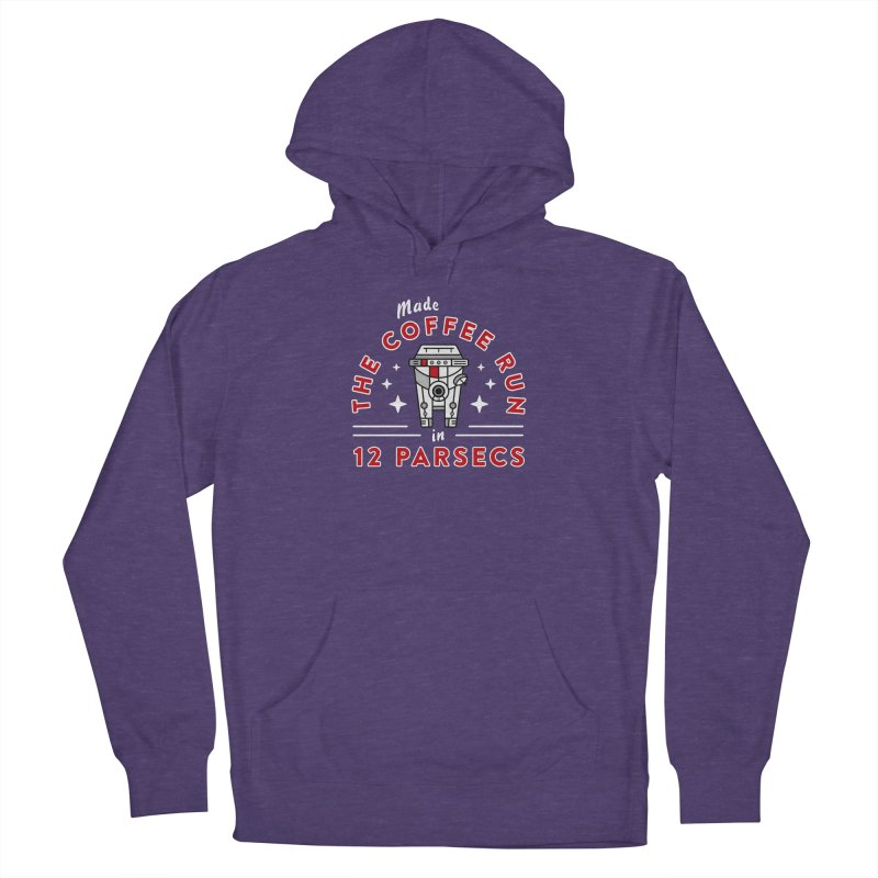 Coffee Run Men's French Terry Pullover Hoody by Greg Gosline Design Co.