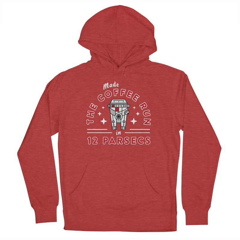 Coffee Run Women's French Terry Pullover Hoody by Greg Gosline Design Co.