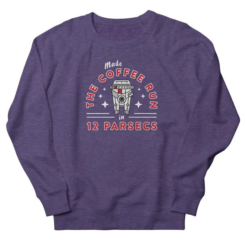 Coffee Run Women's French Terry Sweatshirt by Greg Gosline Design Co.