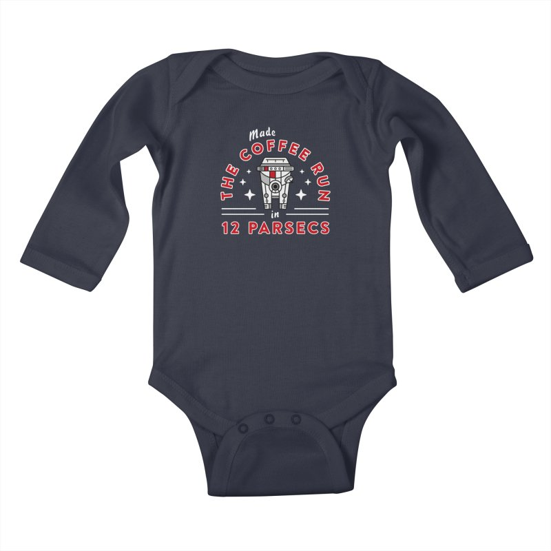 Coffee Run Kids Baby Longsleeve Bodysuit by Greg Gosline Design Co.