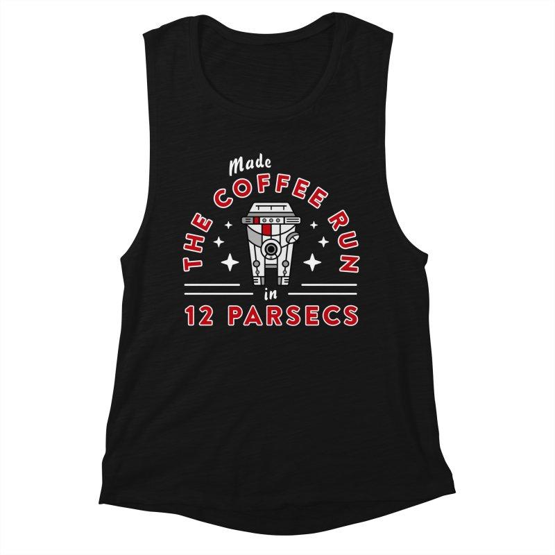 Coffee Run Women's Tank by Greg Gosline Design Co.