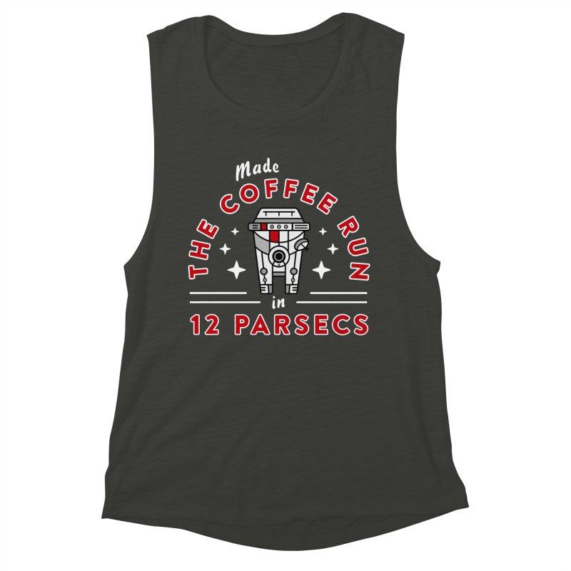 Coffee Run Women's Muscle Tank by Greg Gosline Design Co.