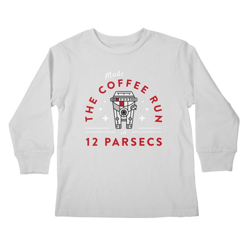 Coffee Run Kids Longsleeve T-Shirt by Greg Gosline Design Co.