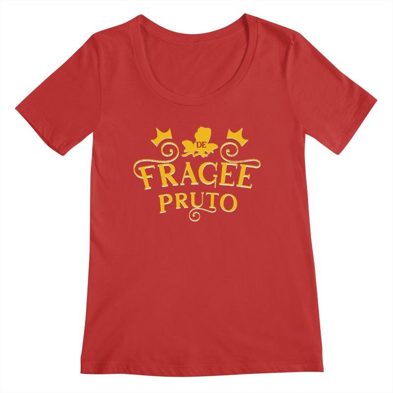 Fragee Pruto Women's Regular Scoop Neck by Greg Gosline Design Co.