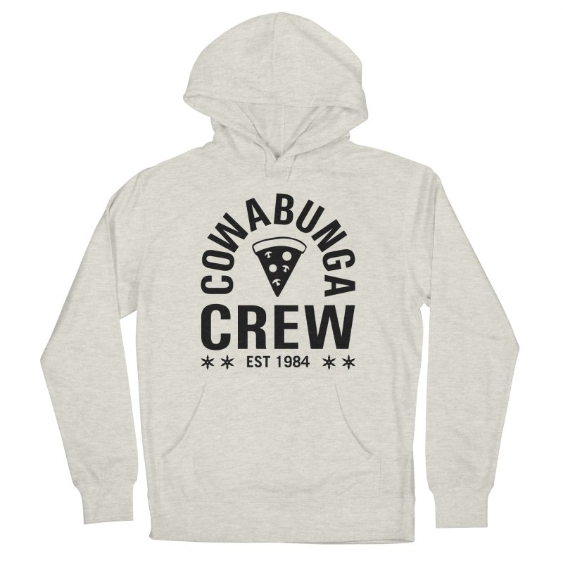 Cowabunga Crew Women's French Terry Pullover Hoody by Greg Gosline Design Co.
