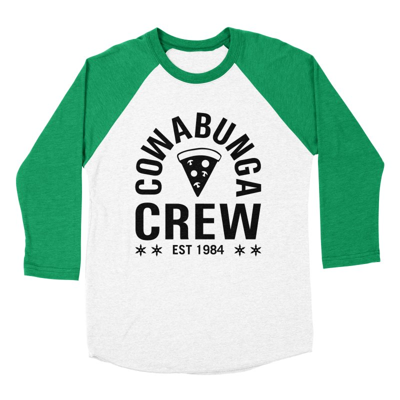 Cowabunga Crew Women's Baseball Triblend T-Shirt by Greg Gosline Design Co.