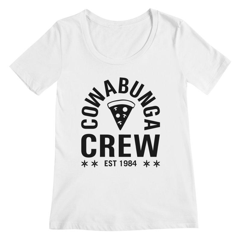 Cowabunga Crew Women's Scoopneck by Greg Gosline Design Co.