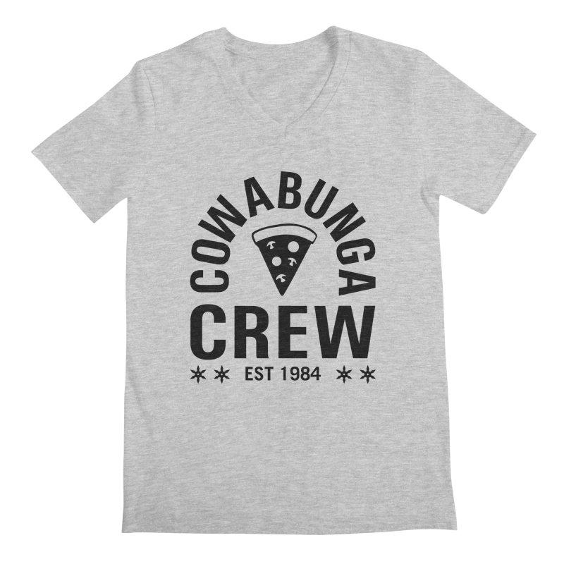 Cowabunga Crew Men's Regular V-Neck by Greg Gosline Design Co.