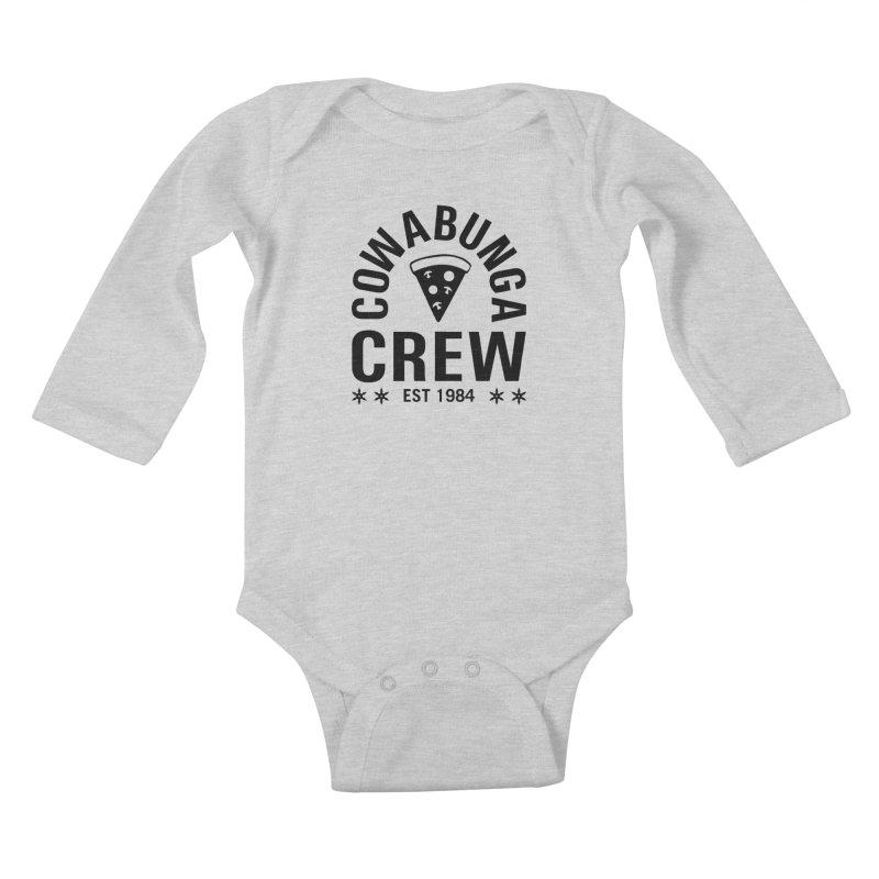 Cowabunga Crew Kids Baby Longsleeve Bodysuit by Greg Gosline Design Co.