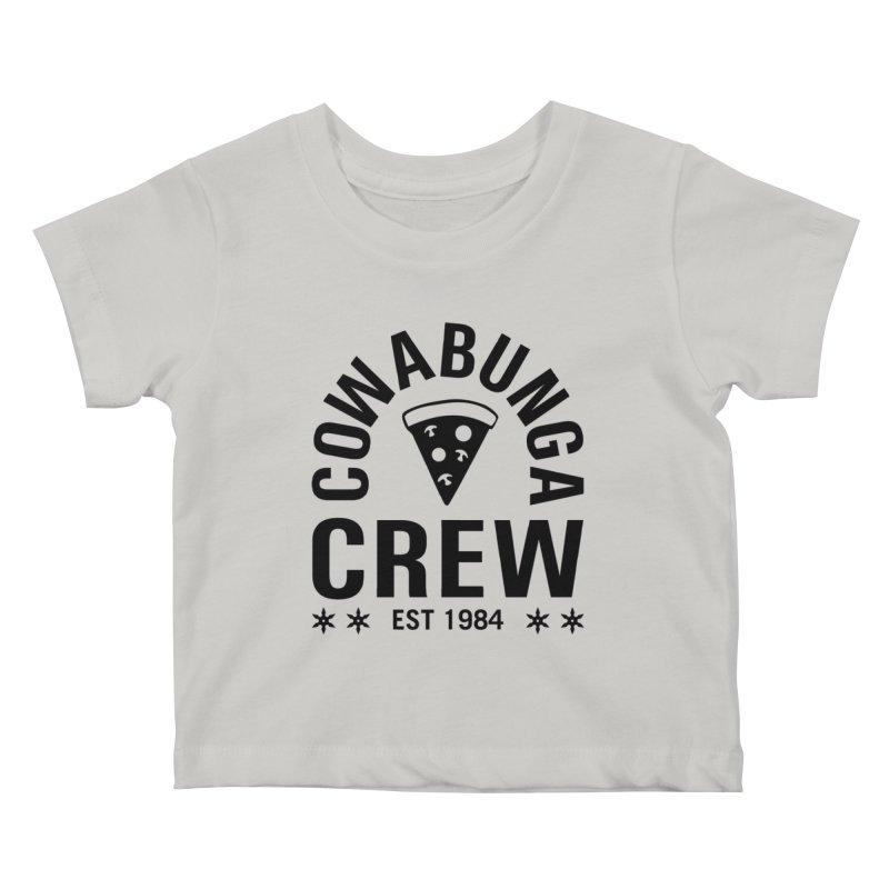 Cowabunga Crew Kids Baby T-Shirt by Greg Gosline Design Co.