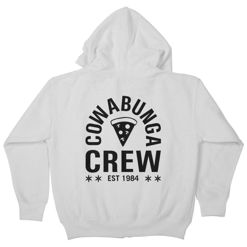 Cowabunga Crew Kids Zip-Up Hoody by Greg Gosline Design Co.