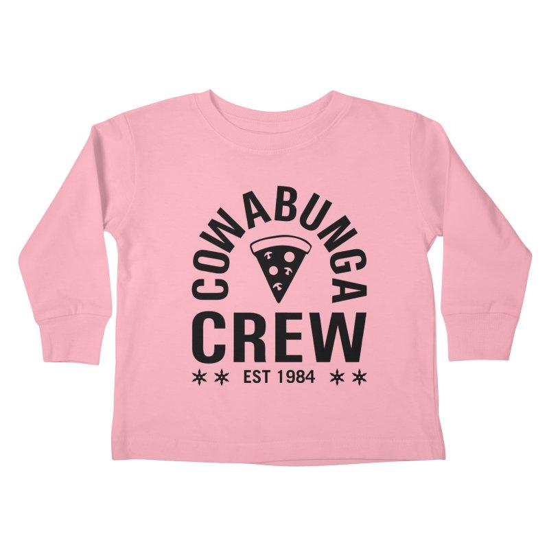 Cowabunga Crew Kids Toddler Longsleeve T-Shirt by Greg Gosline Design Co.