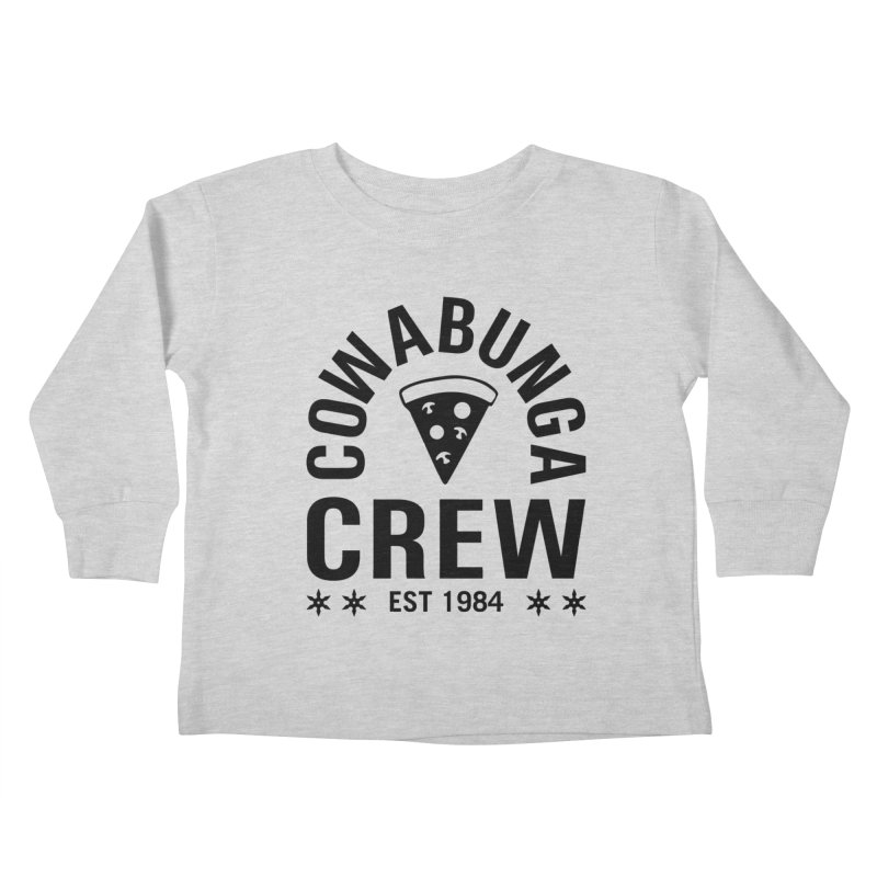 Cowabunga Crew Kids Toddler Longsleeve T-Shirt by Greg Gosline Design Co.