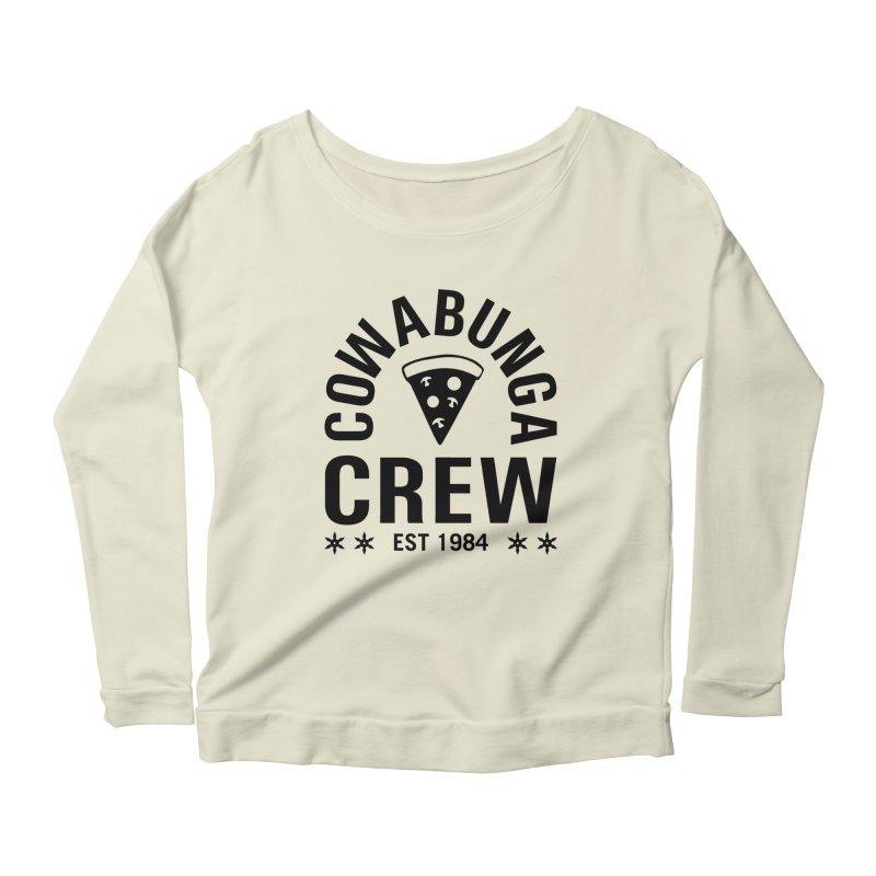 Cowabunga Crew Women's Longsleeve Scoopneck  by Greg Gosline Design Co.