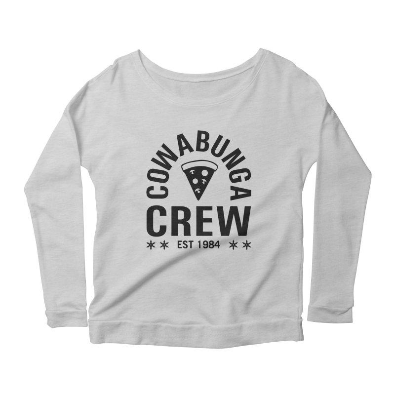 Cowabunga Crew Women's Scoop Neck Longsleeve T-Shirt by Greg Gosline Design Co.