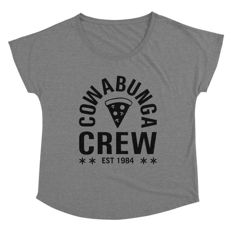 Cowabunga Crew Women's Scoop Neck by Greg Gosline Design Co.