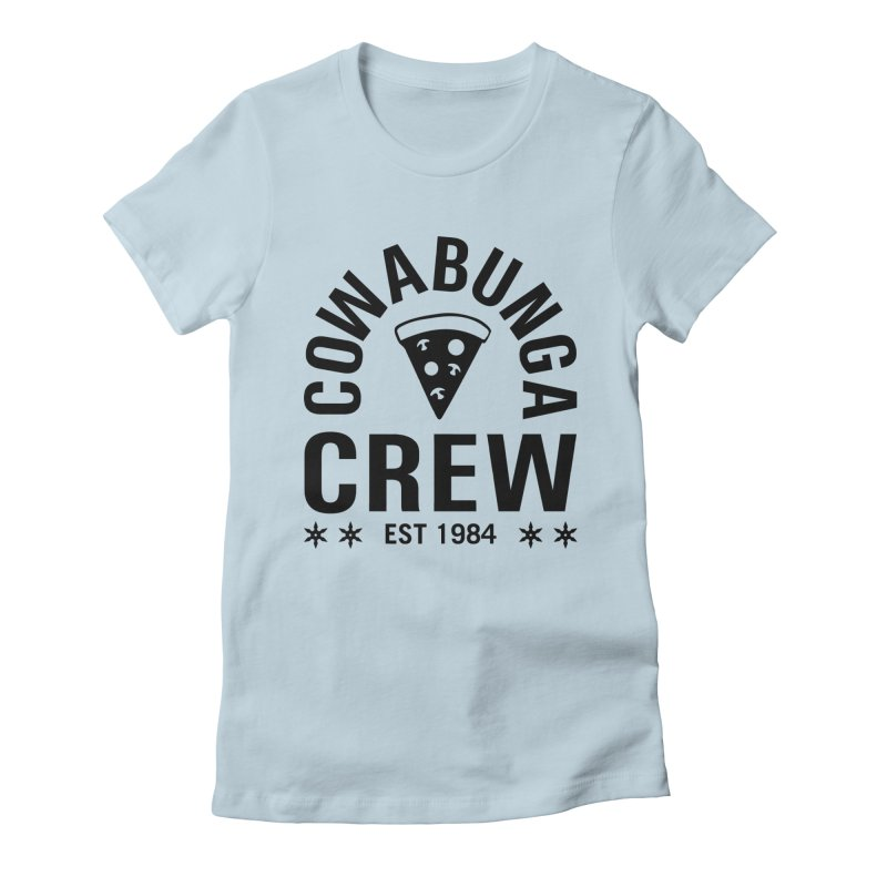 Cowabunga Crew Women's Fitted T-Shirt by Greg Gosline Design Co.