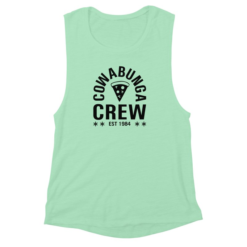 Cowabunga Crew Women's Muscle Tank by Greg Gosline Design Co.