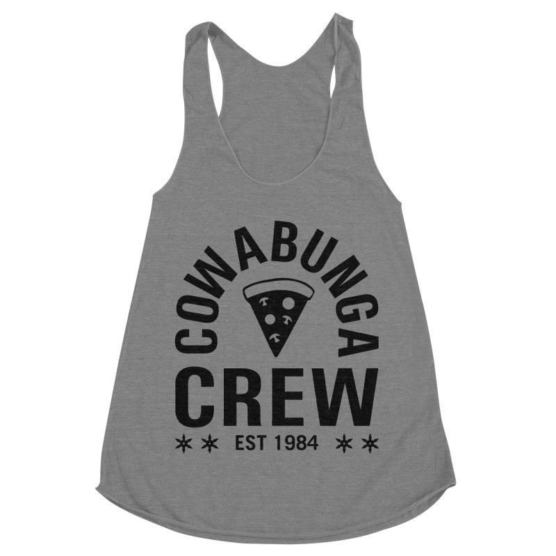 Cowabunga Crew Women's Racerback Triblend Tank by Greg Gosline Design Co.