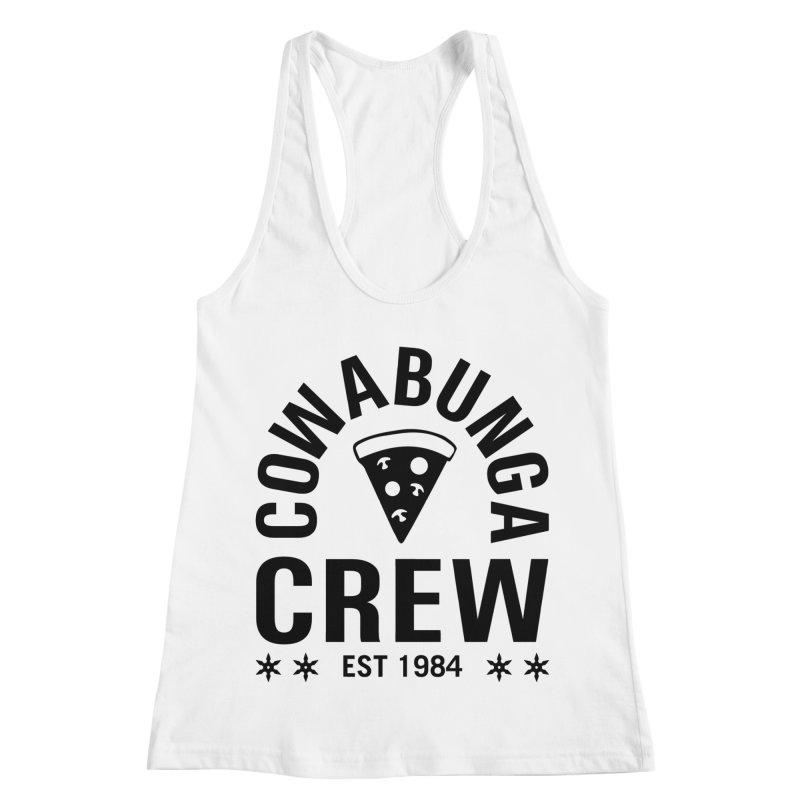 Cowabunga Crew Women's Racerback Tank by Greg Gosline Design Co.