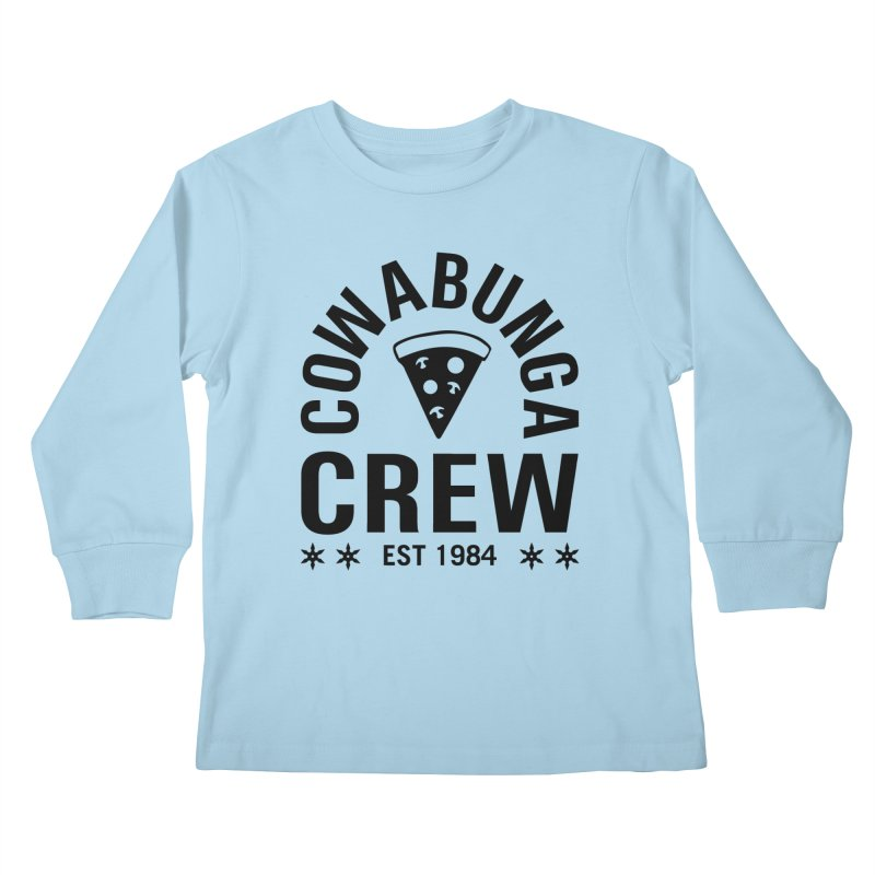 Cowabunga Crew Kids Longsleeve T-Shirt by Greg Gosline Design Co.