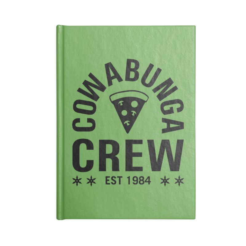 Cowabunga Crew Accessories Lined Journal Notebook by Greg Gosline Design Co.