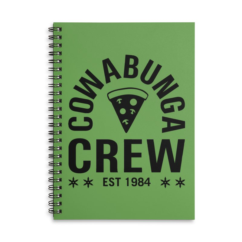 Cowabunga Crew Accessories Lined Spiral Notebook by Greg Gosline Design Co.