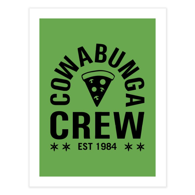 Cowabunga Crew Home Fine Art Print by Greg Gosline Design Co.