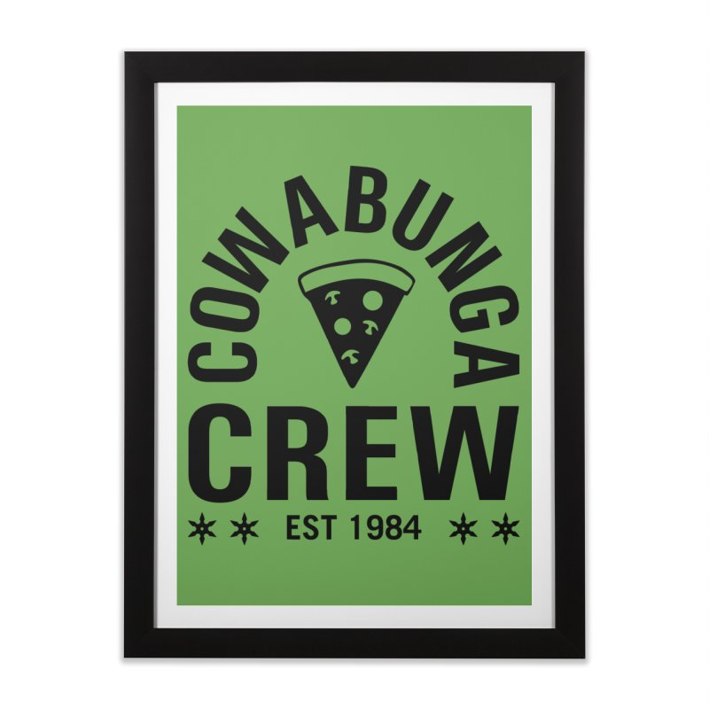 Cowabunga Crew Home Framed Fine Art Print by Greg Gosline Design Co.