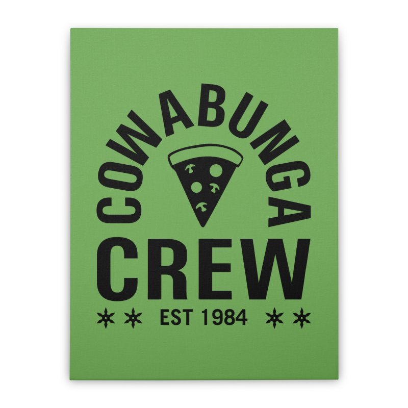 Cowabunga Crew Home Stretched Canvas by Greg Gosline Design Co.