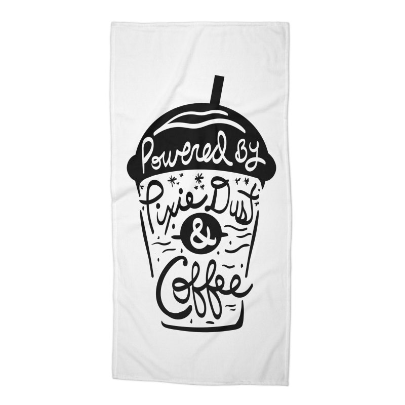 Powered By Accessories Beach Towel by Greg Gosline Design Co.