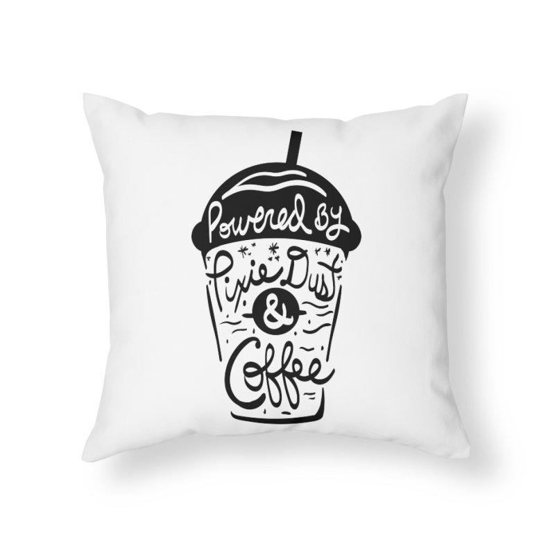 Powered By Home Throw Pillow by Greg Gosline Design Co.