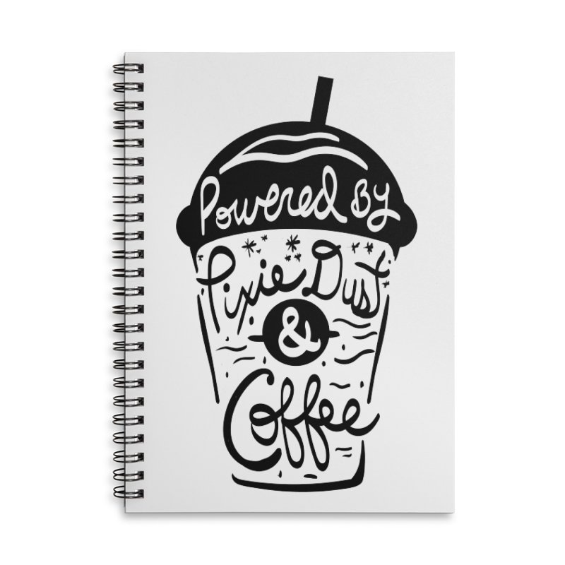 Powered By Accessories Lined Spiral Notebook by Greg Gosline Design Co.
