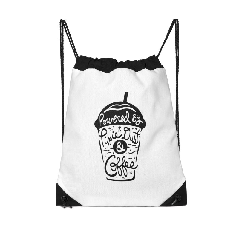 Powered By Accessories Drawstring Bag Bag by Greg Gosline Design Co.