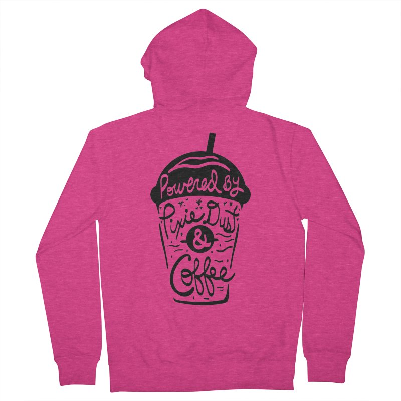 Powered By Women's French Terry Zip-Up Hoody by Greg Gosline Design Co.