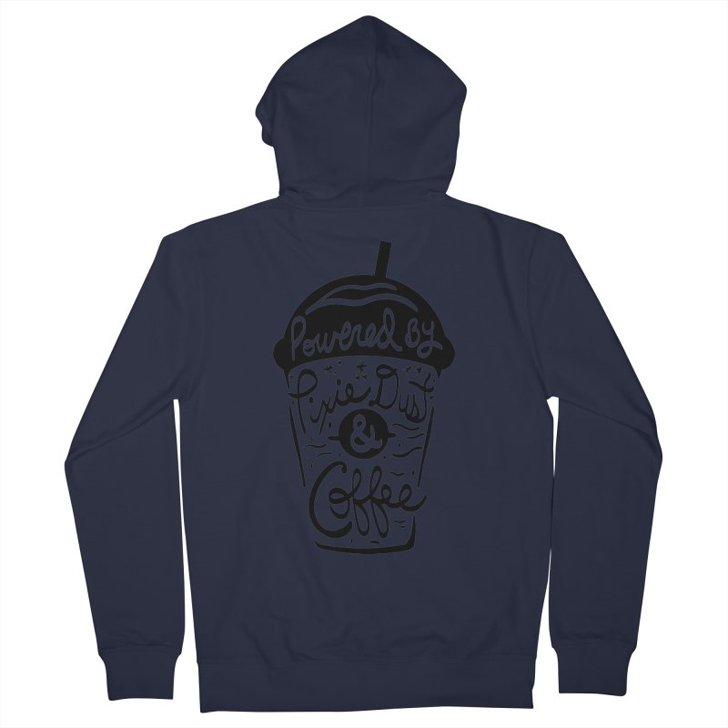 Powered By Men's French Terry Zip-Up Hoody by Greg Gosline Design Co.